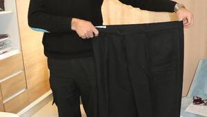 10 ayda 54 kilo verdi