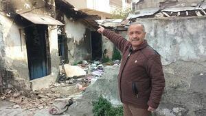Melek kardeşlerin evi yandı