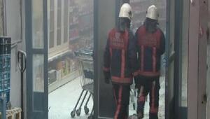 Kağıthanede markete molotoflu saldırı