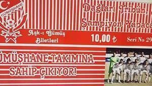 Gümüşhanede seyircisiz maç için hatıra bileti