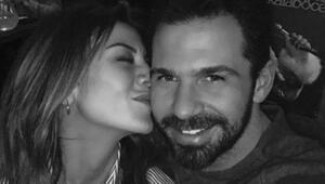 Gökçe Bahadır sevgilisini öpmeye doyamadı