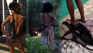 Halle Berry Oscardan sonra soyunup havuza atladı