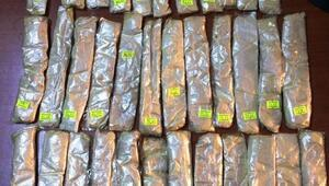 Mont astarına gizlenmiş 1 kilo 85 gram eroin ele geçirildi