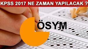 2017 KPSS sınavı ne zaman yapılacak İşte ÖSYM 2017 yılı sınav takvimi
