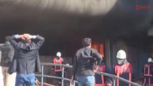 Boya fabrikasının deposunda yangın