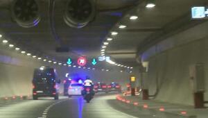 Cumhurbaşkanı Erdoğan Avrasya Tünelini kullandı