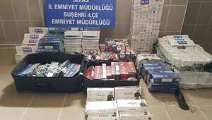 Sivasta 4 bin 85 paket kaçak sigara ele geçirildi