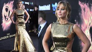 Jennifer Lawrencetan ilham alın: Metalik trendi