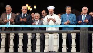 Diyanet İşleri Başkanı, kubbesi baklava dilimli caminin açılışını yaptı