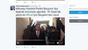 Ak Partili Babaoğlunu, MHPliler bozkurt selamı ile karşıladı