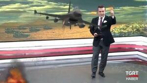 TGRT stüdyosuna F-16 ve tank girdi, sosyal medyada bu görüntü olay oldu