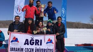 Ağrı kayaklı koşuda Türkiye şampiyonu