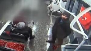 Otobüste Türk Bayrağına çirkin saldırı