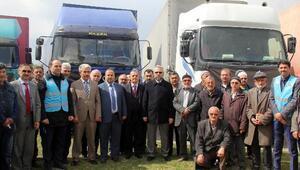 Kayseriden Suriyeye 5 yardım TIRı daha gönderildi