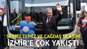 İzmirin elektrikli otobüs filosu yola çıktı