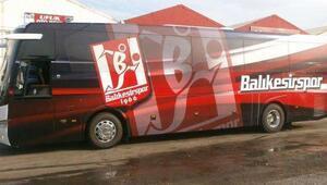 Balıkesirsporun otobüsüne yolda el konuldu
