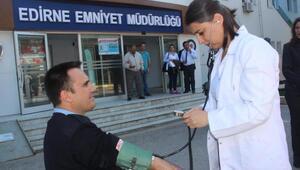 Edirne polisine sağlık taraması