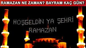 Ramazan ayı ne zaman başlıyor İlk oruç hangi gün tutulacak
