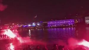 Beşiktaş taraftarından Lyona gece yarısı şoku
