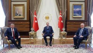 Cumhurbaşkanı Erdoğan, Yargıtay Başkanı Ciriti ve Yargıtay Cumhuriyet Başsavcısı Akarcayı kabul etti