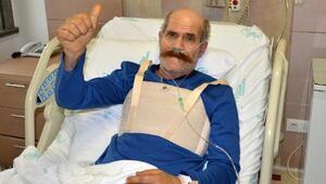 Bacak ve göğsünden alınan damarlarla hayata tutundu