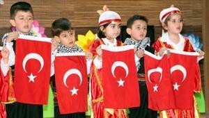 Anaokulu öğrencileri 23 Nisanı kutladı