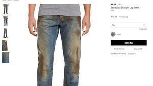 425 dolarlık'lekeli' pantolon alay konusu oldu