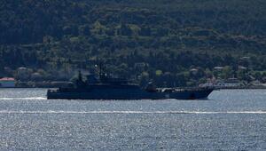Çanakkale Boğazından Rus savaş gemisi geçti