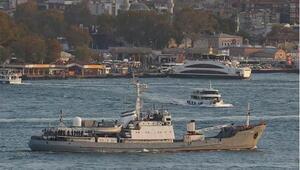 Son dakika: Kilyos açıklarında Rus savaş gemisi kargo gemisiyle çarpıştı