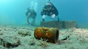 Kemerde deniz dibi temizliği