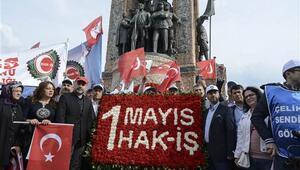 Hak-İşten Taksimde horonlu kutlama