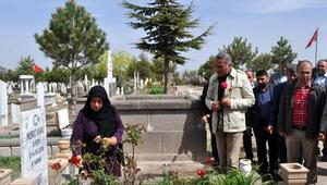 TÜMİŞten, iş kazasında ölen işçinin mezarına 1 Mayıs ziyareti