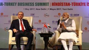 Cumhurbaşkanı Erdoğan Hindistan-Türkiye İş Forumunda konuştu