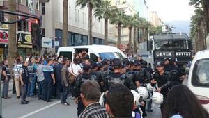 Denizlide izinsiz eyleme polis müdahalesi; 34 gözaltı