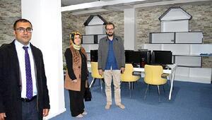 Erzurumdaki DAP Semt Kütüphaneleri açılışa hazırlanıyor.