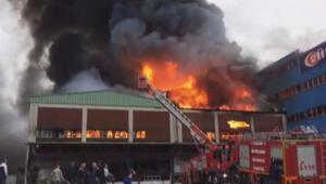 Trabzonda sanayi sitesinde yangın