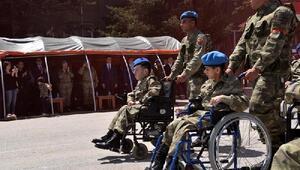 Boluda engelliler 1 günlüğüne asker oldu