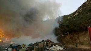 Çöplükte yangın çıktı... Ormana doğru ilerliyor