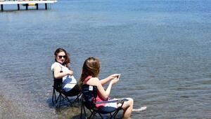 Marmariste sıcaklar arttı sahiller canlandı