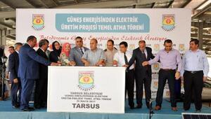 Tarsusta güneş enerjisinden elektrik