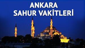 Ankara sahur vakti 2017 Ankarada sahur saat kaçta