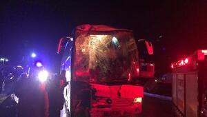 Afyonkarahisarda aynı firmaya ait yolcu otobüsleri çarpıştı: 23 yaralı