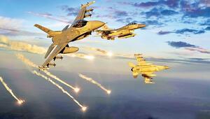 Kuzey Iraka 8 uçakla darbeli vuruş