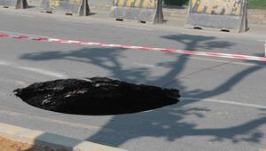 Beşiktaşta çöken yol 12 saatlik çalışmanın ardından tekrar trafiğe açıldı