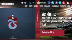 Trabzonspordan açıklama: Trabzonsporu şike imasıyla suçlamak ar damarı çatlamışların işidir