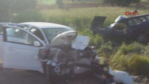 Konyada kaza:2 ölü, 4 yaralı