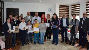 Kitap okuma yarışmasının ödülleri verildi