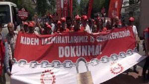 DİSKten İŞKUR önünde Kıdem tazminatı protestosu