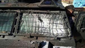 Diyarbakırda zırhlı araca roketatarlı saldırı: 1 polis yaralı