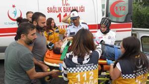 TEM otoyolunda yoğunluğa neden olan kazada 2 yaralı